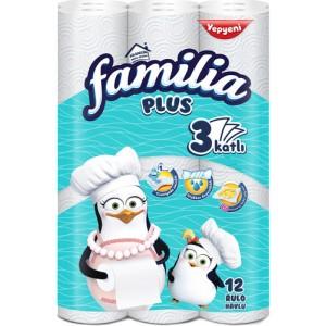 Familia Rulo Havlu 3 Katlı 12 Li
